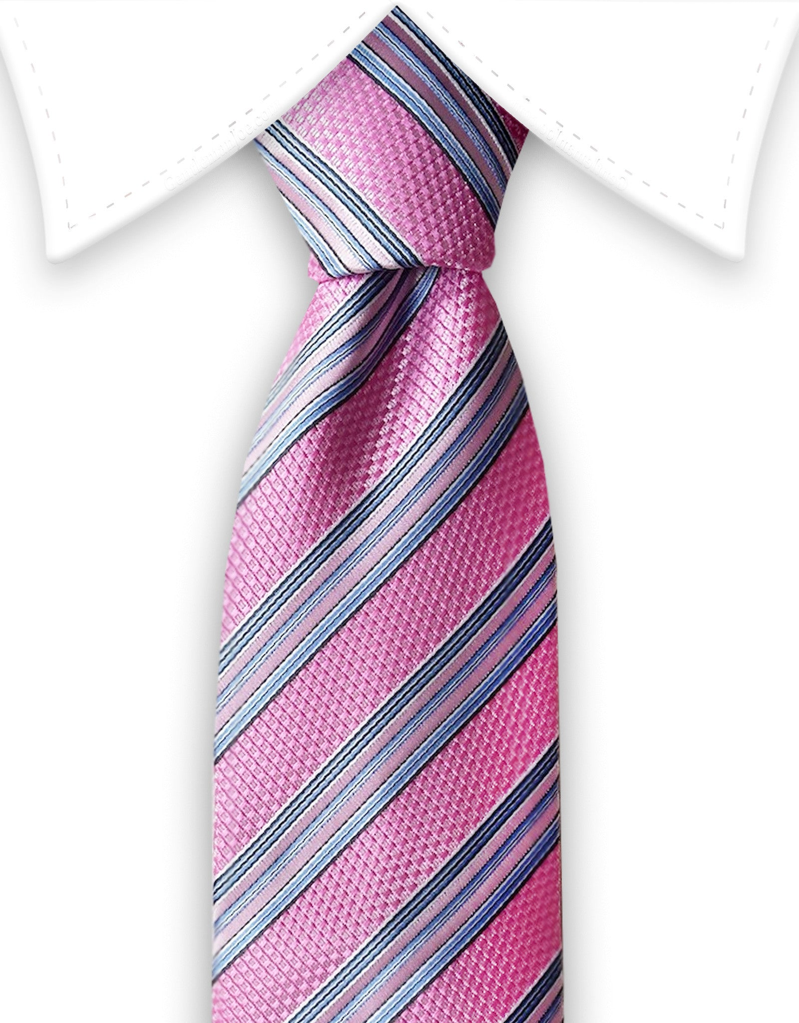 816e362c13d5 Pink & Blue Striped Tie – GentlemanJoe