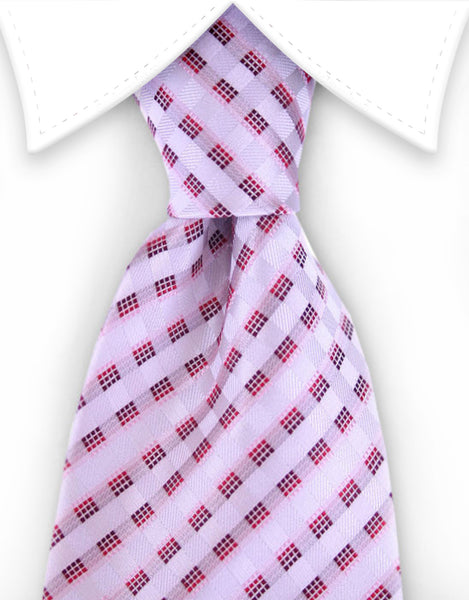 white, pink, red ribbon tie