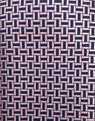 pink and navy blue tie swatch