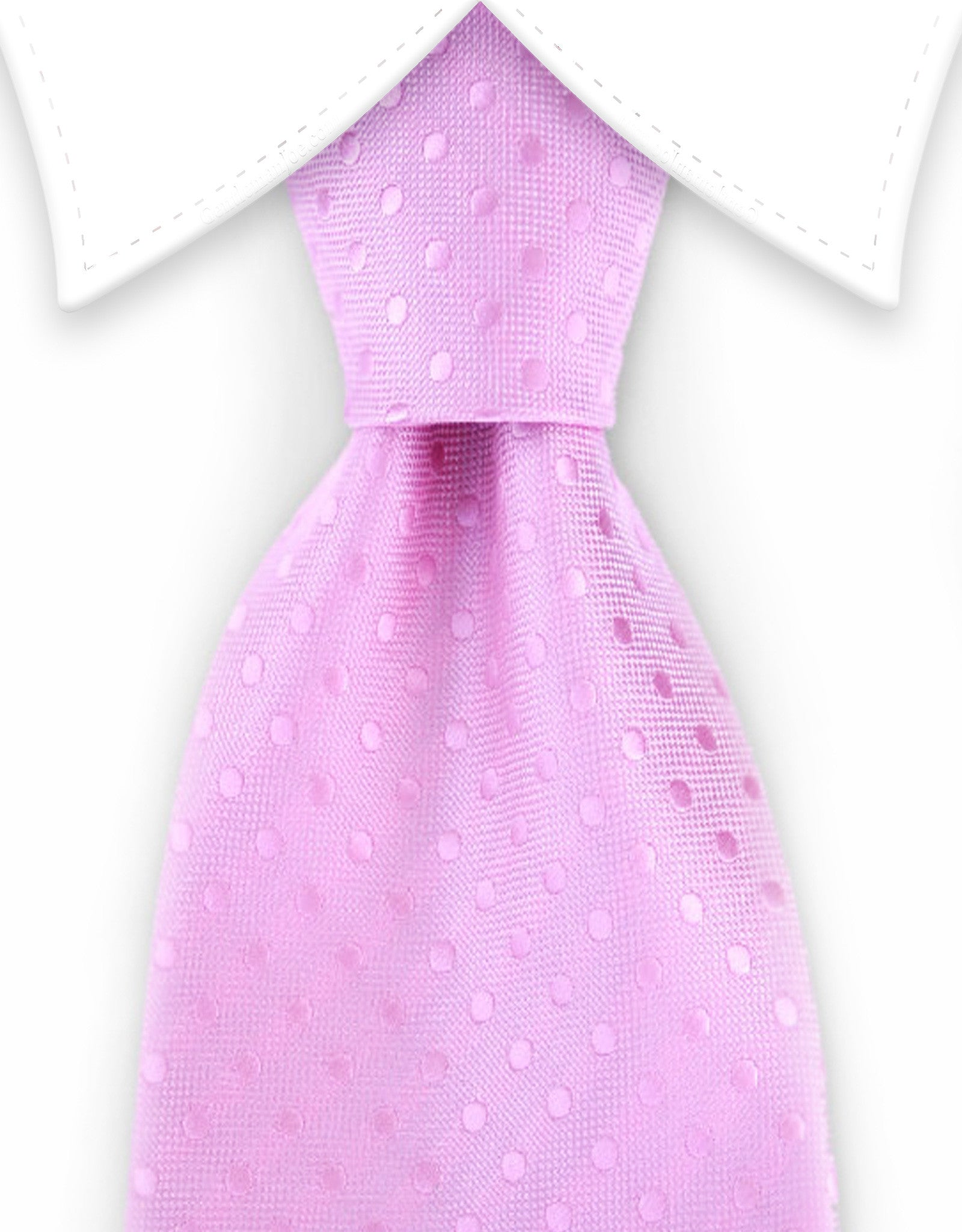 light pink polka dot tie