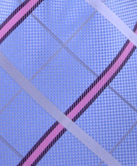 Baby Blue & Light Pink Plaid Tie
