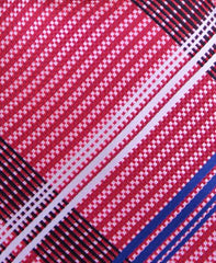 Red, white & blue plaid tie