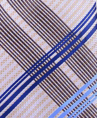 Cream & Blue Plaid Necktie