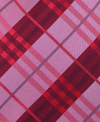 Light & Dark Red Plaid Tie
