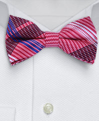 Red & Blue Plaid Bow Tie