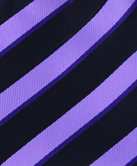 Purple & Black Striped Tie