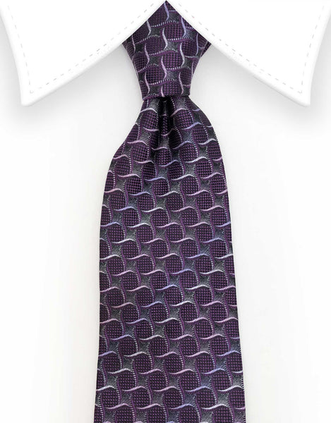 plum purple mens tie