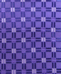 Purple Geometric Men's Tie