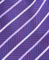 Purple Striped  Herringbone Tie