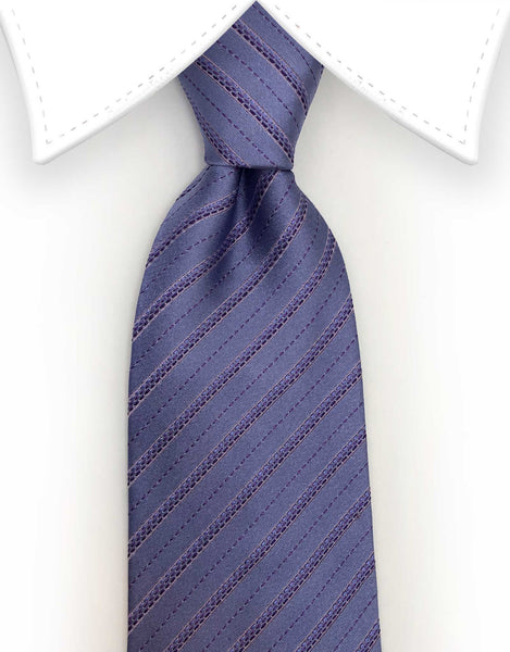 lilac striped tie