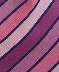 Variegated Pinks and Purple Striped Tie