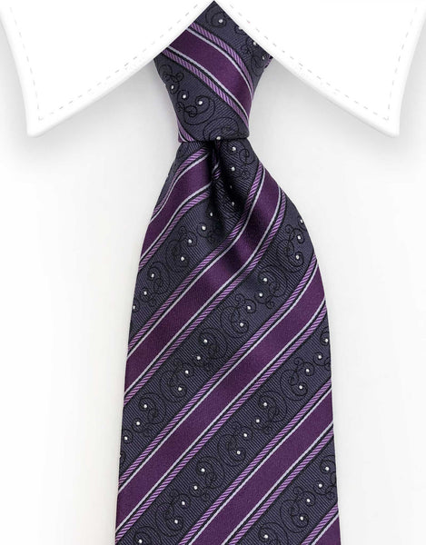 purple sparkley tie