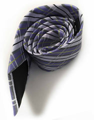 wisteria purple silver plaid necktie