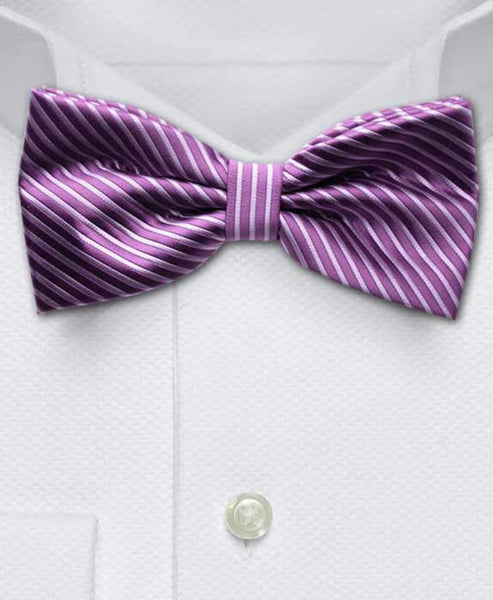 purple & lilac bow tie