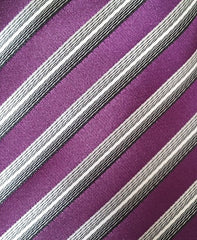 purple and silver wedding tie