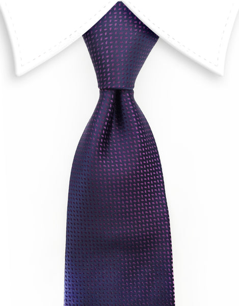 Purple & Black Necktie