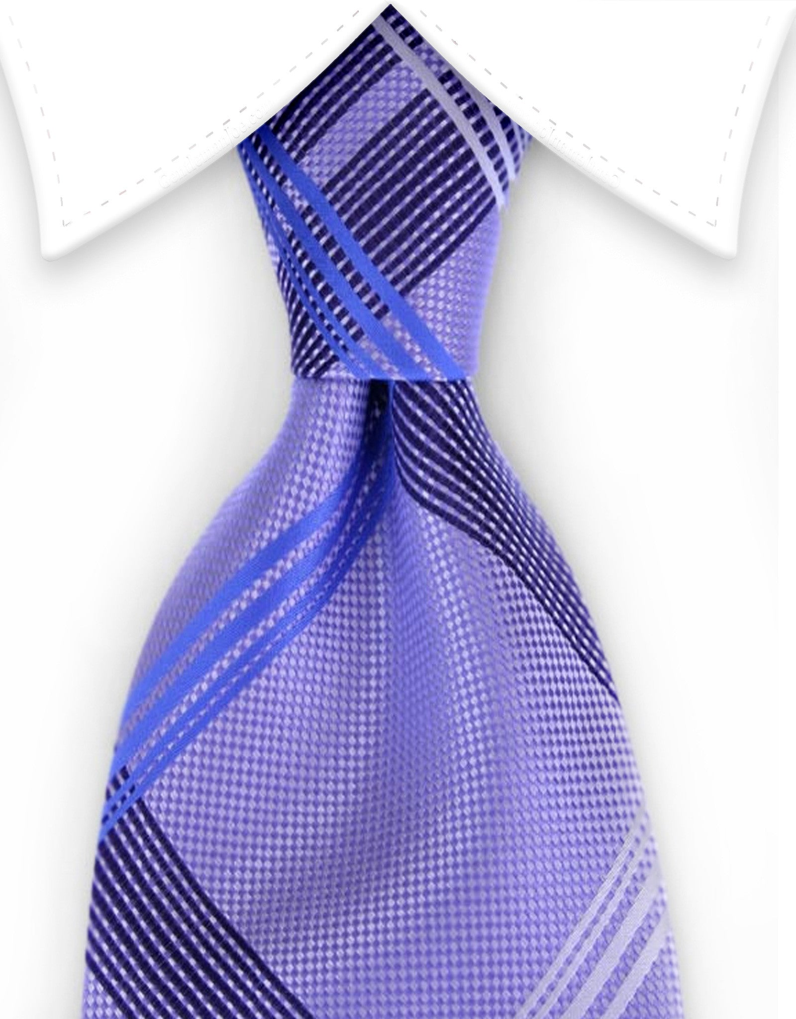 lilac purple plaid tie