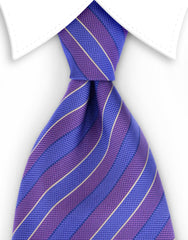 purple & blue striped tie