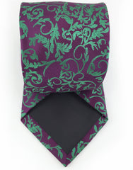 purple green tie