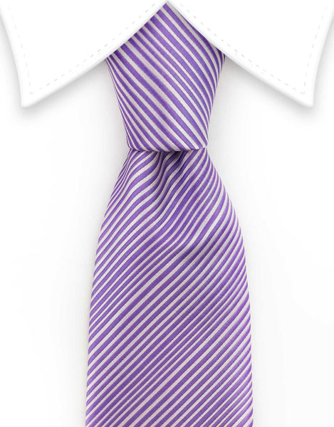 purple long tie