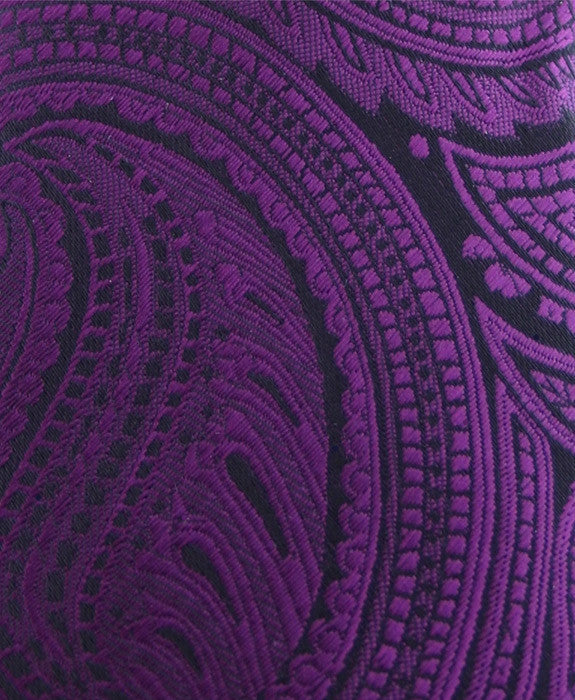 dark purple paisley pocket square