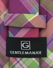 Gentleman Joe Purple & Multi-colored Plaid 3XL Tie