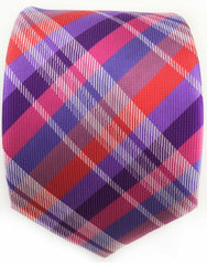 Purple Plaid Necktie