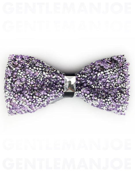 sparkly purple bow tie