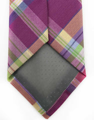 Purple Plaid Long Necktie