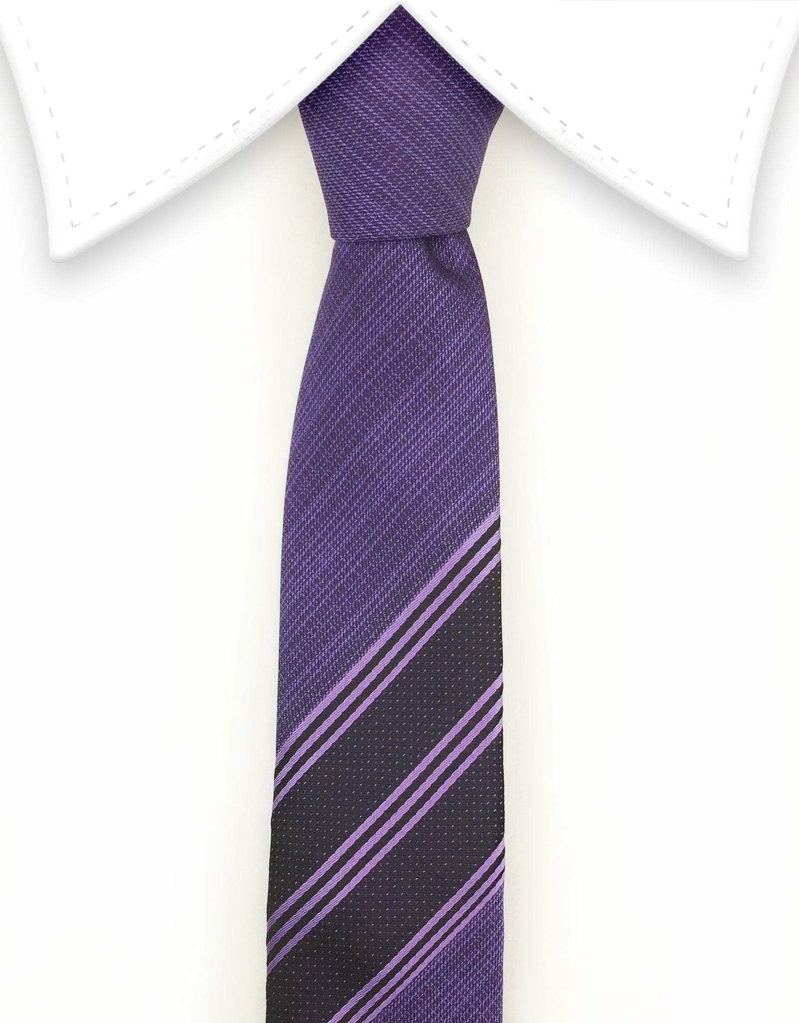 purple narrow tie