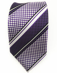 Purple and silver tie