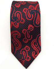 navy blue and raspberry red tie