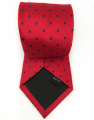 Red polka dot necktie