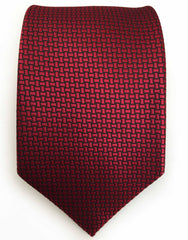 Deep red necktie