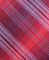 Red Plaid Tie Swatch