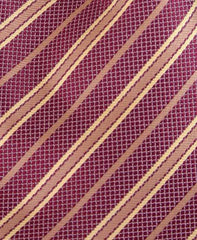 Dusty Red & Gold Striped Tie