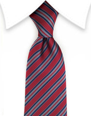 Burgundy striped tie