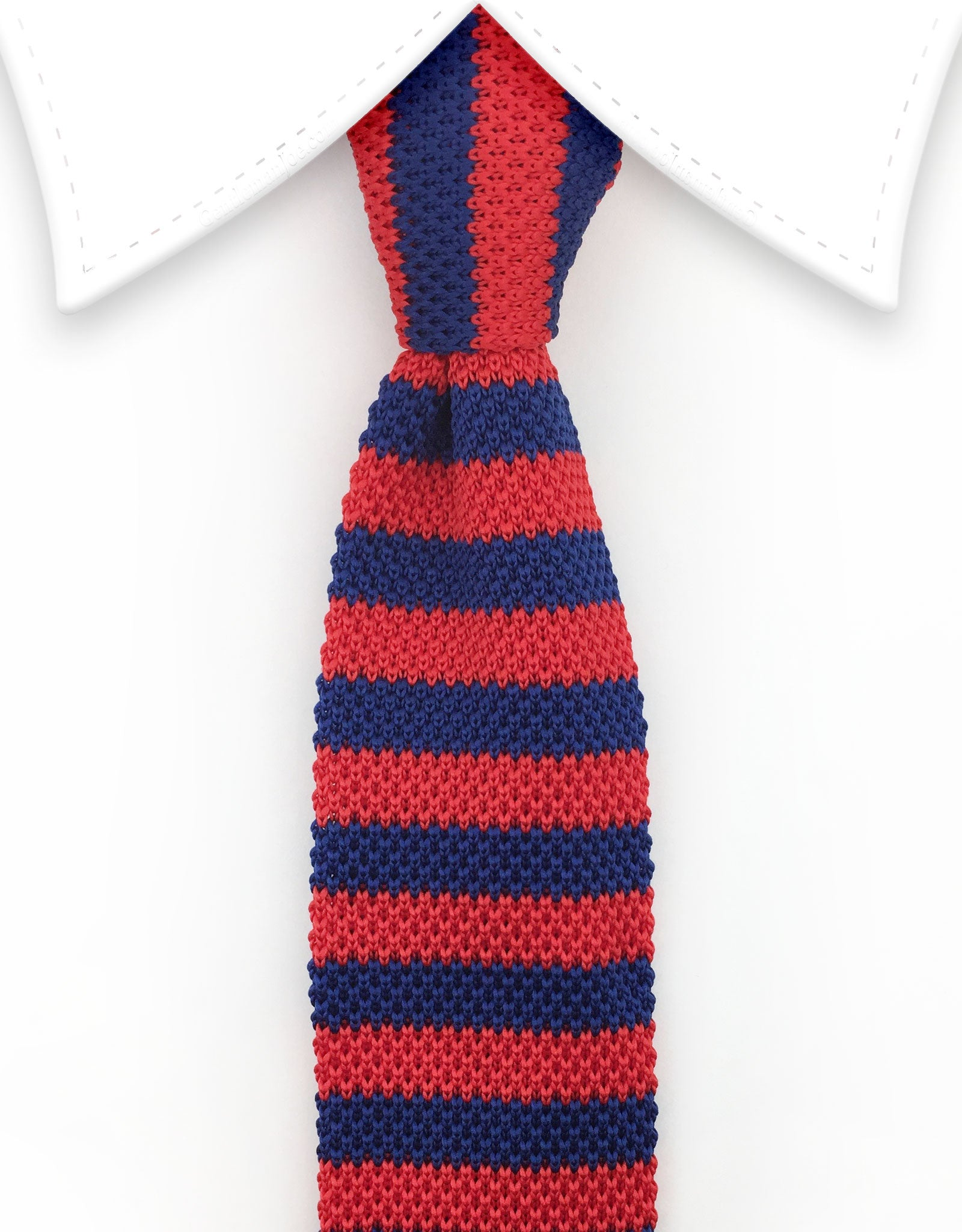 Red Blue Knit Necktie