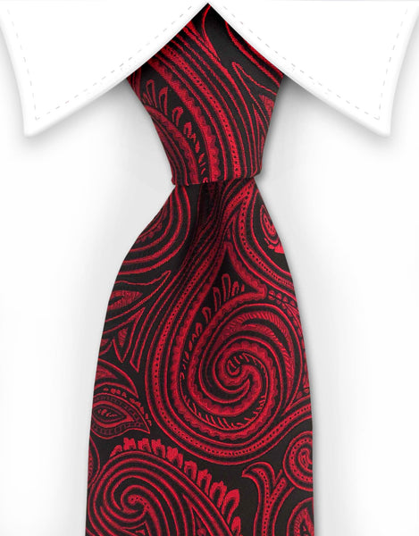 Red & Black paisley necktie