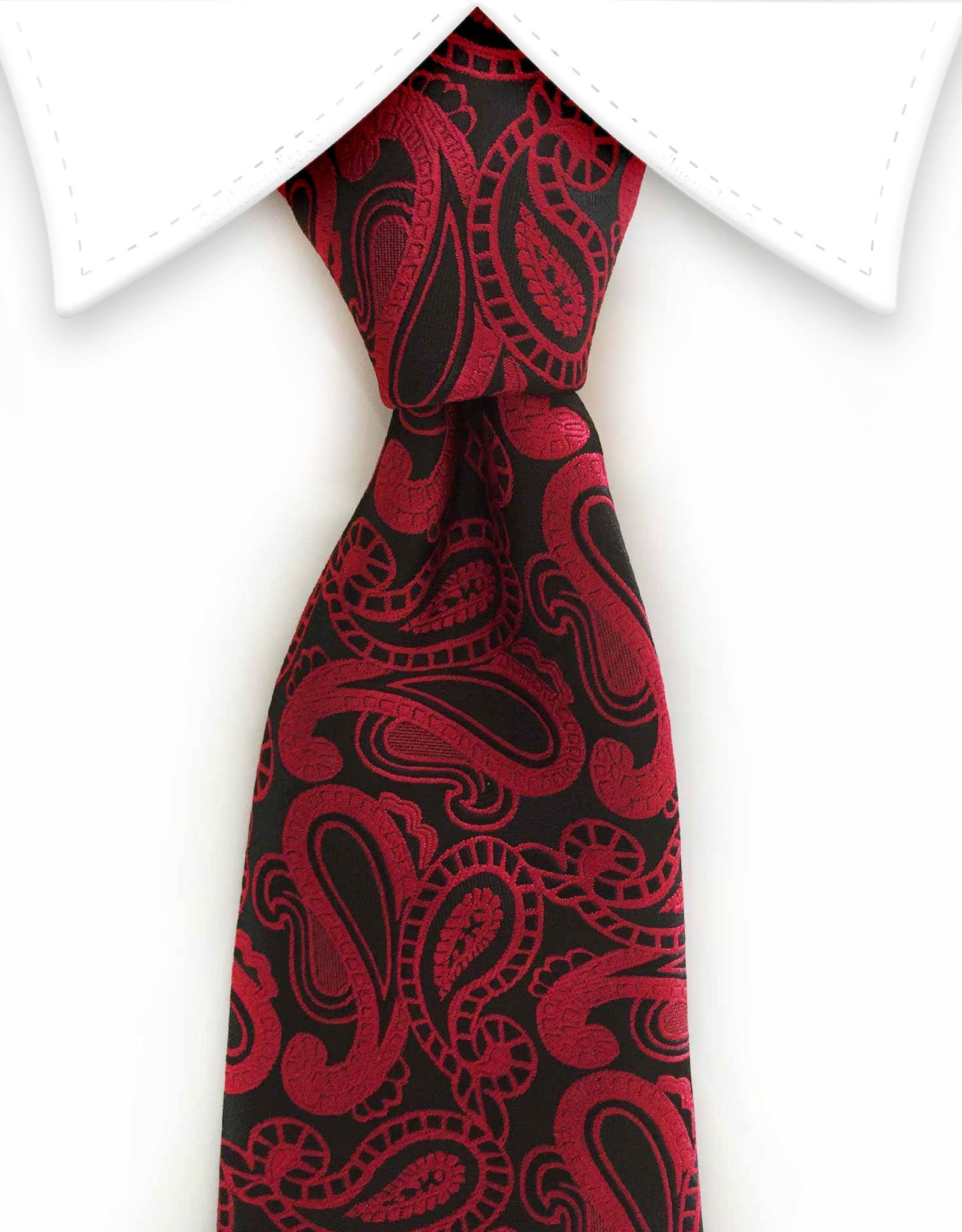 black and red paisley men's tie
