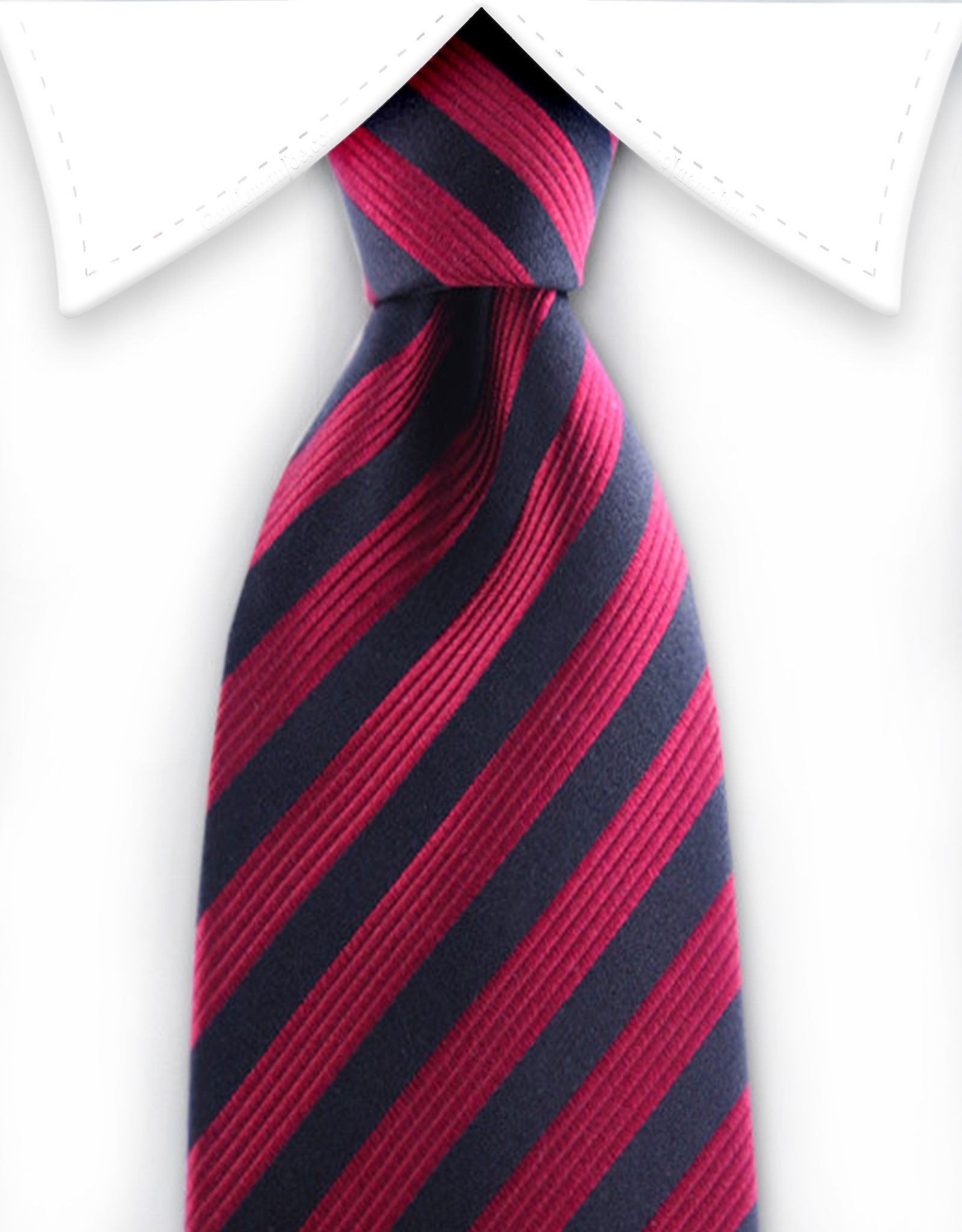 Red & Black Striped Silk Teen Tie