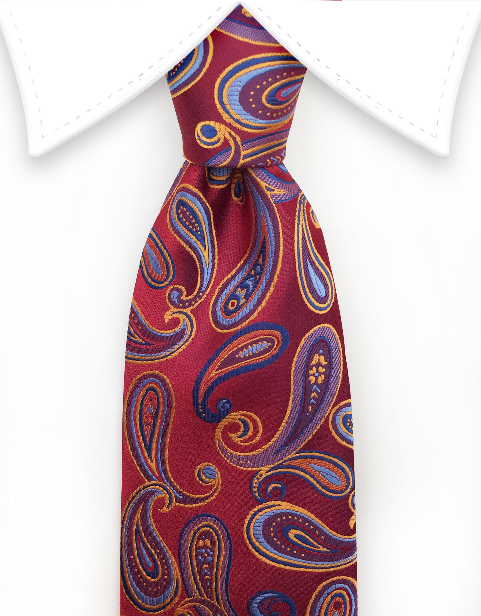 Red, Orange, Blue Paisley Tie