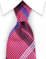 Red, White & Blue Plaid Necktie
