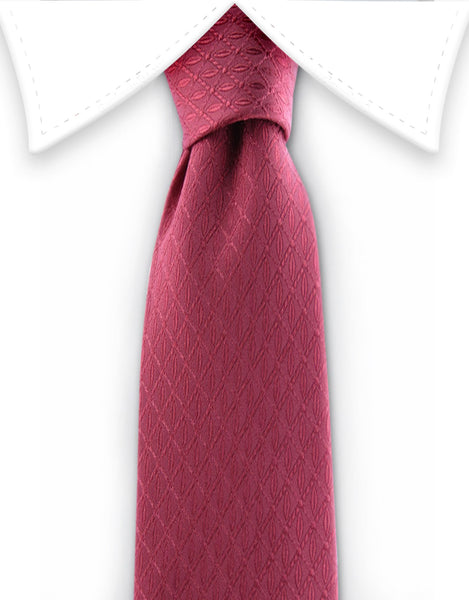 Red Coral Teen Tie