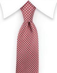 Red Houndstooth Tie