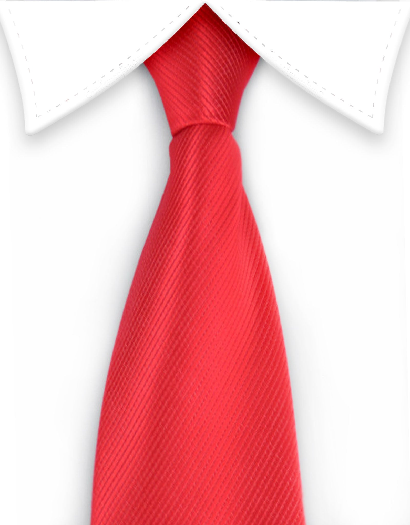 Red Men's Zipper Tie
