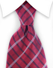 Red & Navy plaid tie