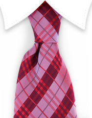 Red plaid mens tie