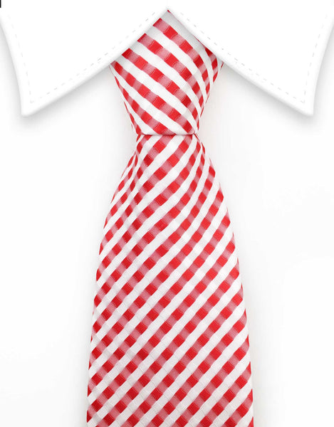 red and white big and tall necktie