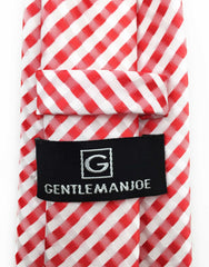 Red & White Gentleman Joe Necktie